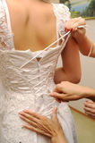 Bride dress preparation for the wedding Royalty Free Stock Image