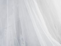 Bride dress texture. Abstract bride texture and background, the folds of bride veil. Background royalty free stock photography