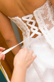 Bride dress tie Royalty Free Stock Photo