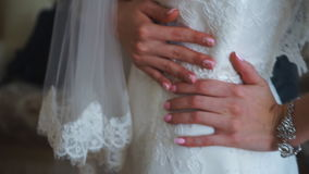 The bride dress stock footage