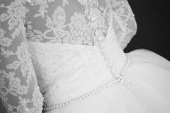 Bride dress for wedding black and white Royalty Free Stock Photography