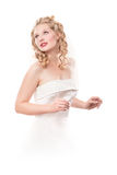 bride dress white Royaltyfri Bild