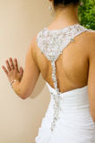 Bride with dress Stock Image