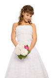 Bride dressed in 50s style Royalty Free Stock Photography