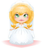 Bride Dressed For Her Wedding Day 3. A illustration of a bride dressed for her wedding day royalty free illustration