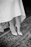 Bride dresses shoes Stock Images
