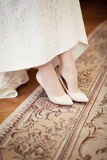 Bride dresses shoes Royalty Free Stock Image