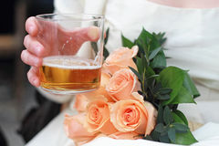 Bride drink Stock Photo