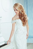Bride with elegant hairstyle. Stock Image