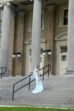 Bride enters chapel royalty free stock photos