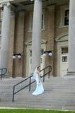 Bride enters chapel Royalty Free Stock Photos