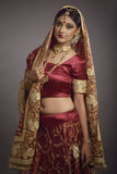 Bride in ethnic dress. Ethnic dress of bride stock image