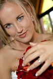 Bride Eyes Stock Image