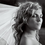 Bride with eyes closed royalty free stock photo