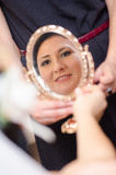 Bride face reflection Royalty Free Stock Image