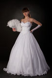 Bride with fan Royalty Free Stock Image