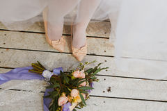 Bride feet Stock Images