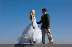 Bride and fiance Stock Image