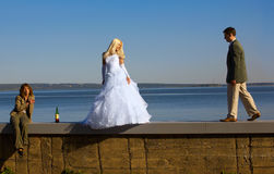 Bride and fiance Royalty Free Stock Image