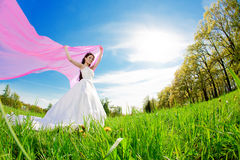 Bride on a field Stock Image