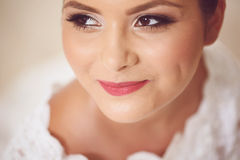 Bride with fine make-up Royalty Free Stock Photography