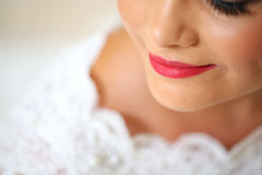 Bride with fine make-up Royalty Free Stock Images