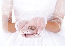 Bride and finger ring Royalty Free Stock Images