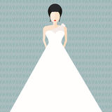 Bride in Flat Style Royalty Free Stock Photos