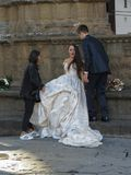 Bride in Florence stock photos