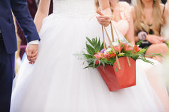 Bride with Flower Basket Royalty Free Stock Photo