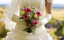 Bride flower bouquet Royalty Free Stock Photography