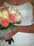 Bride with flower bouquet Royalty Free Stock Photos