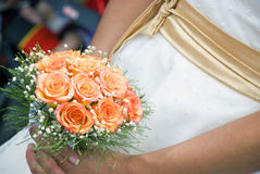 The bride with flowers Royalty Free Stock Photo