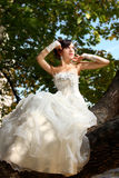 Bride in flowers Royalty Free Stock Photo