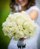 Bride and flowers Royalty Free Stock Photo