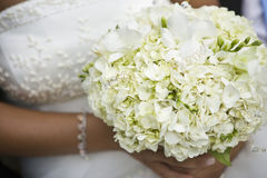 Bride and Flowers Stock Photos