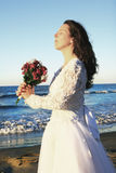 Bride and flowers Royalty Free Stock Photography
