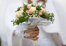 Bride with flowers. Stock Images