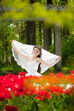 Bride with flowers Royalty Free Stock Photography