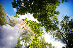 Bride in the forest Royalty Free Stock Images