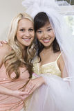 Bride With Friend At Hen Party Royalty Free Stock Images