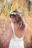 Bride garden grass tree Stock Photo