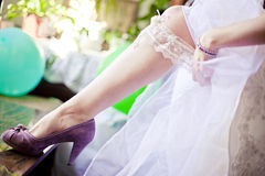 Bride garter Royalty Free Stock Photography