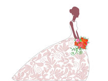 Bride before get married Stock Images