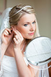 Bride is getting ready Stock Images