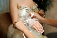 Bride Getting Ready Stock Image
