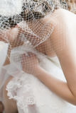Bride getting ready. On her wedding day Stock Photography