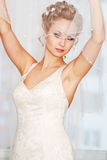 Bride getting ready Royalty Free Stock Photo