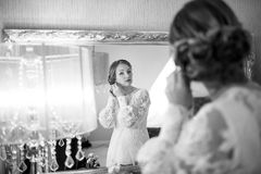 Bride getting ready. Stock Photos
