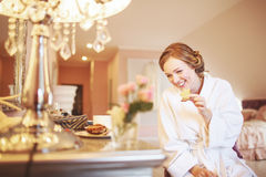 Bride getting ready. Stock Photography